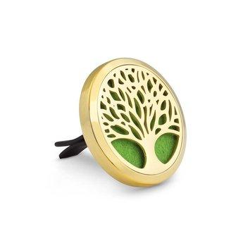 AromaLove Levensboom autodiffuser essentiële oliën zilver/goud