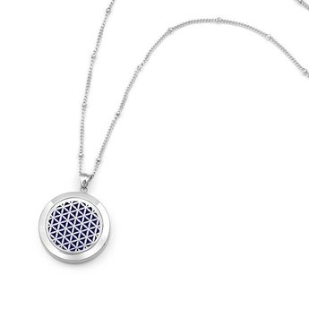 AromaLove Flower of Life aromanecklace Silver