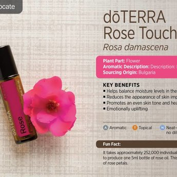 doTERRA Essential Oils Rose Touch roller 10 ml.
