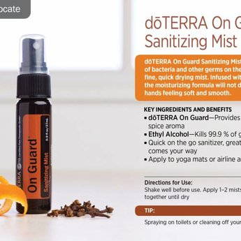 doTERRA Essential Oils On Guard Purifying Mist 27 ml.