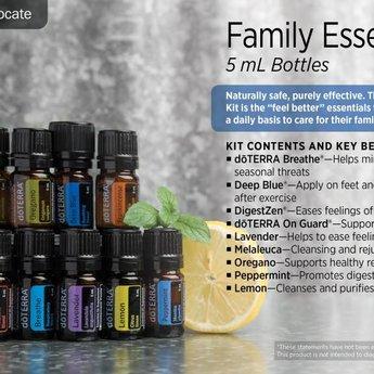 doTERRA Essential Oils Family Essentials Kit + beadlets