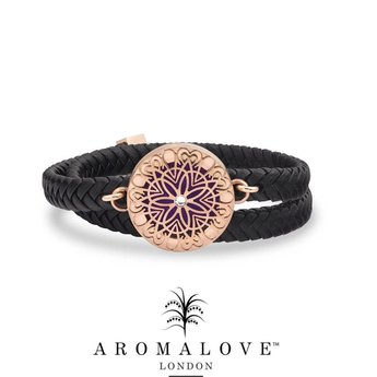 AromaLove Leather Flowerburst diffuser bracelet
