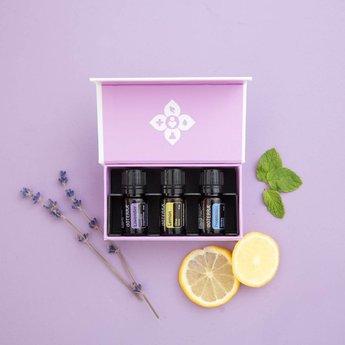 doTERRA Essential Oils Introductie kit doTERRA - enkelvoudige oliën: lavendel, citroen, pepermunt