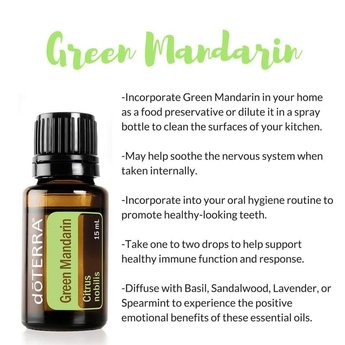 doTERRA Essential Oils Green Mandarin essential oil 15 ml.