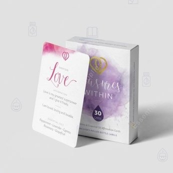 Essential Oil Supplies Treasures Within: Emotions  & Essential Oil Affirmation Cards