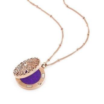 AromaLove Flowerburst aromadiffuser ketting 2cm diameter (goud)
