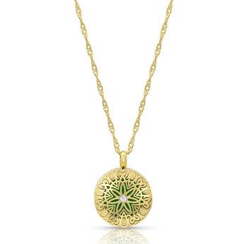 AromaLove Flowerburst aromadiffuser locket necklace 25mm diameter (rose gold) - Copy
