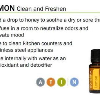 doTERRA Essential Oils Lemon Essentiële Olie enkelvoudige olie Citroen 15 ml.