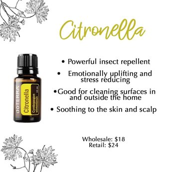 doTERRA Essential Oils Citronella essentiële olie 15 ml.