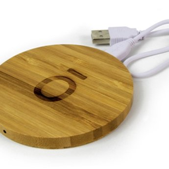 doTERRA Essential Oils Wireless Bamboo Charger - 9 cm.