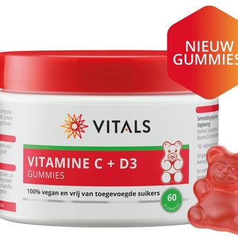 Vitals Vitamin C + D3 Gummies 60 pcs. (vegan)