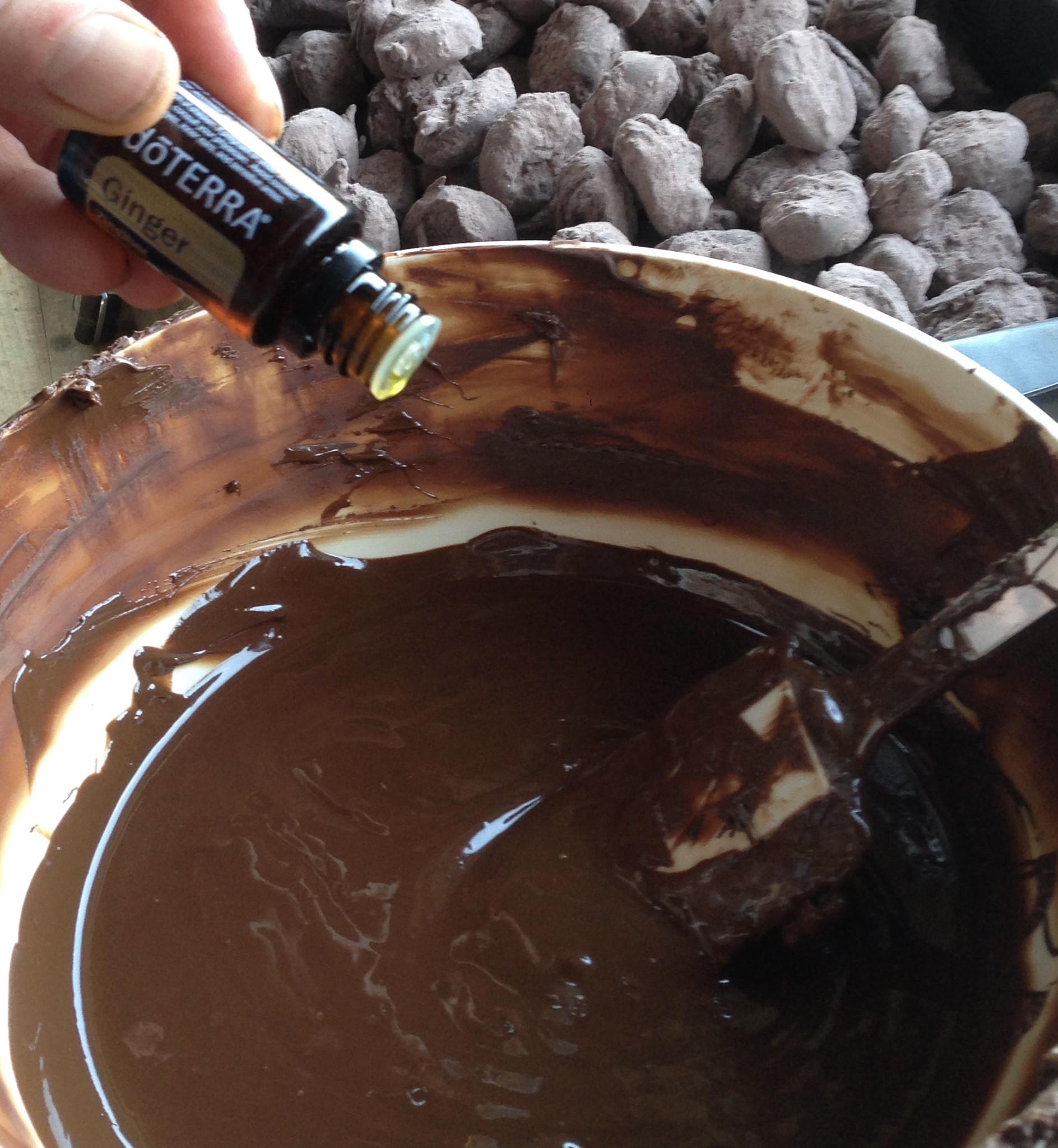 Chocolade met essentiële oliën