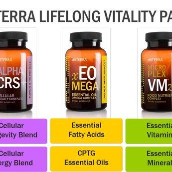 doTERRA Essential Oils Lifelong Vitality Pack Food Supplements