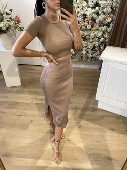 Donna set taupe