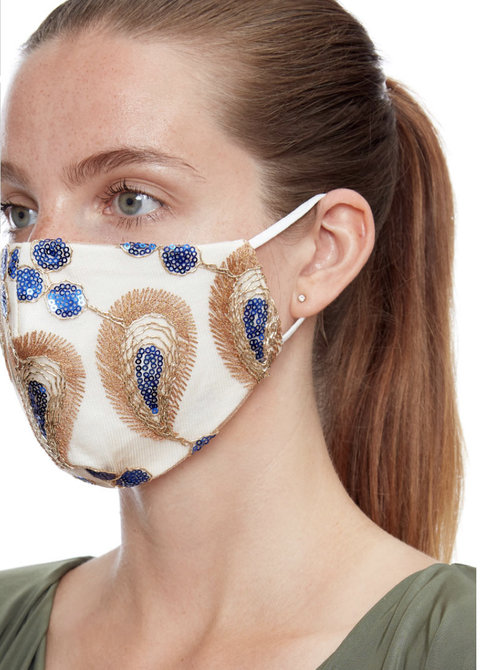 Mask blue & gold