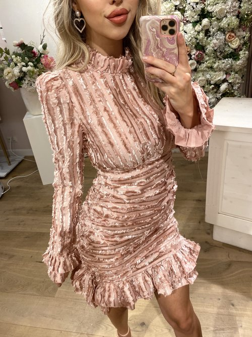 Classy Turtle Dress Pink