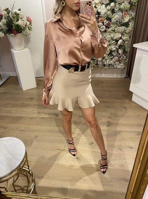 Satin Blouse Blush