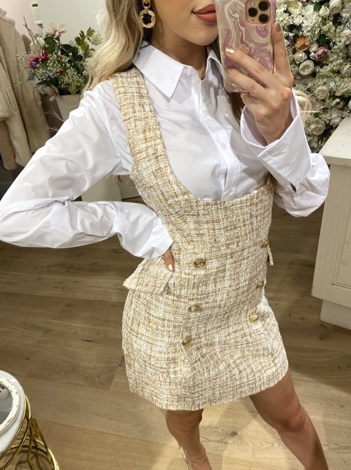 Amelia Tweed dress ivory