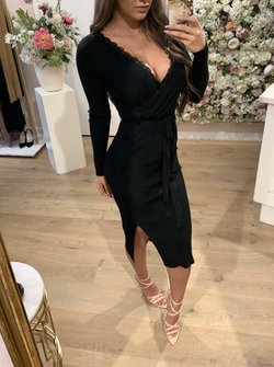 Lace Dress Long Black