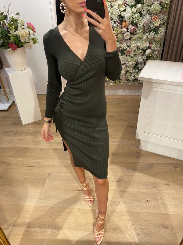 Ruched Dress Green