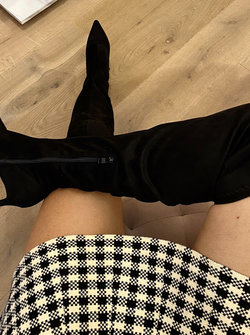Pointy Overknees Black