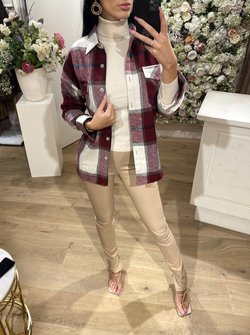 Flannel Blouse Red