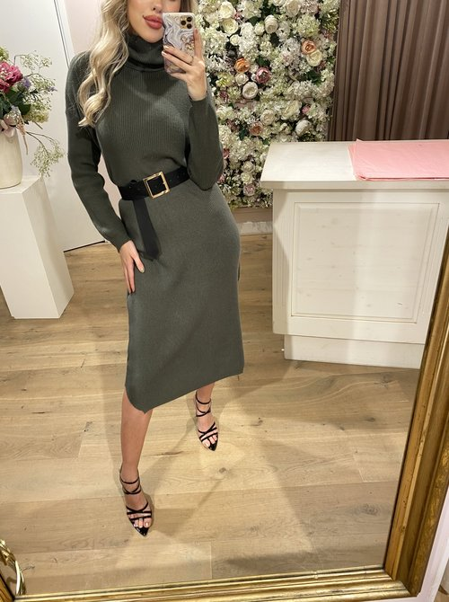 Knitted Olive Green dress