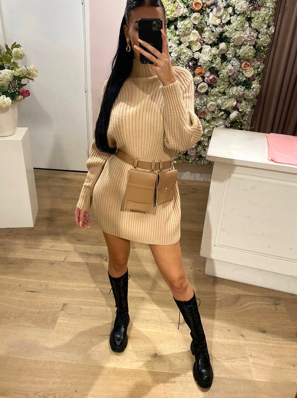 Bobby sweater dress camel