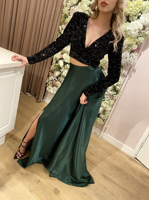 Dream Satin maxi skirt