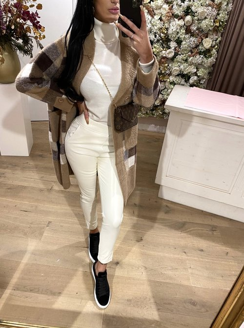 Faux Leather Offwhite