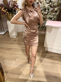 Pink Ruched Dress