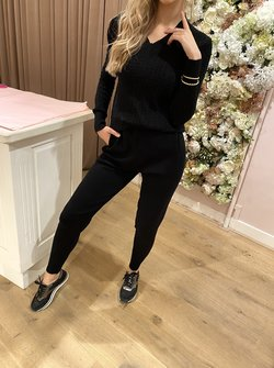 Cable Tracksuit Black