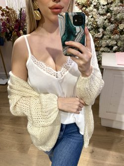 Sterre lace top creme
