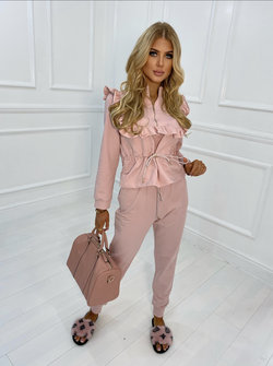 Brittney Ruffle tracksuit PInk