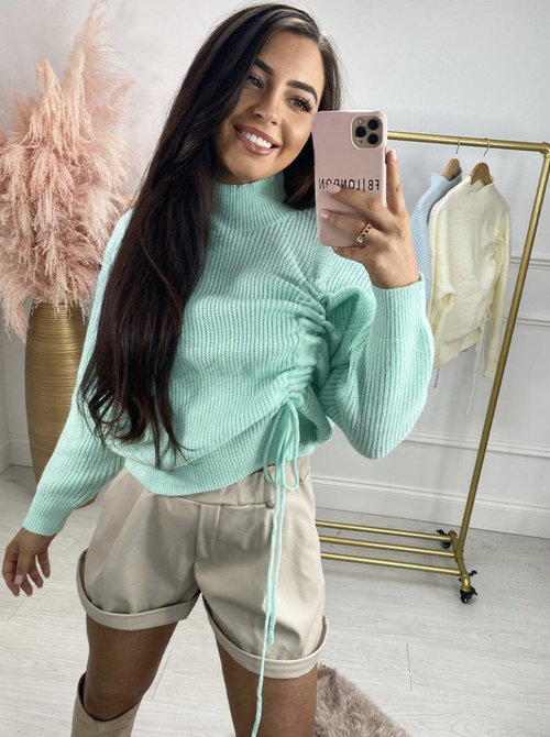 Ruched sweater minty
