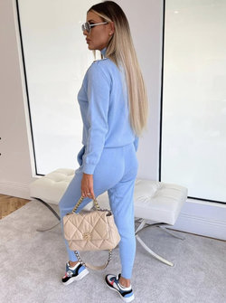 Shoulder button tracksuit blue