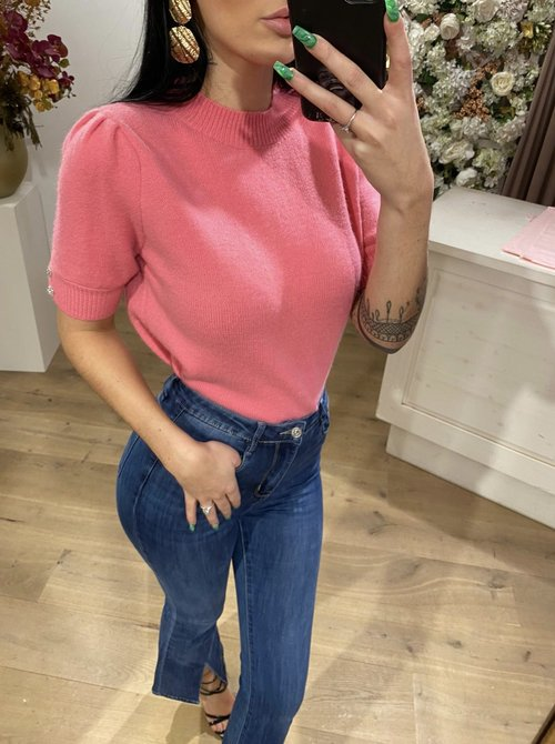 Pinky  puffy top
