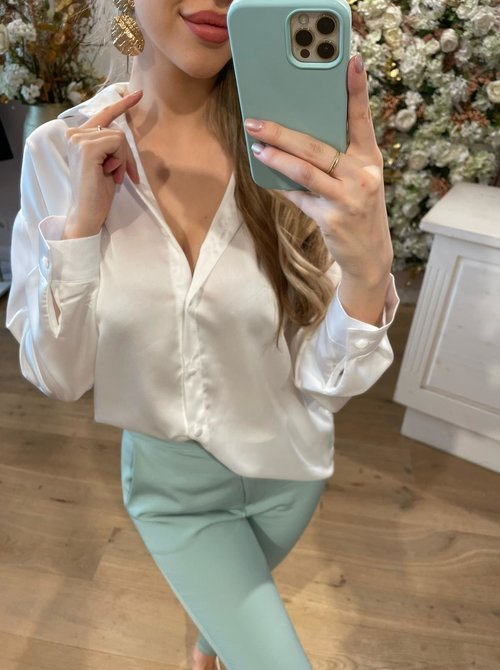 Ava Blouse White