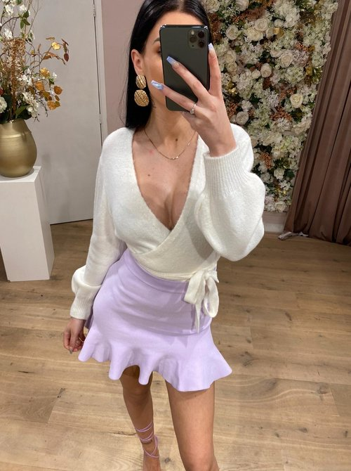 Daisy wrap top pink