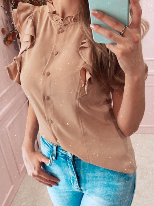 Classy ruched blouse Blush