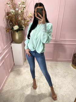 Lacey blouse minty