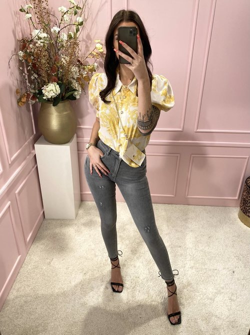 blouse yellow with bag