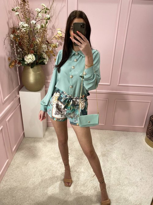 Mint Blouse with bag