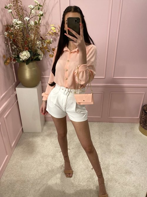 Blouse with bag Peach