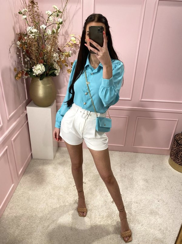 Blouse with bag Turquoise