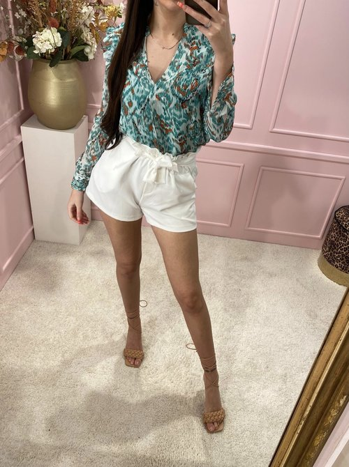 knotted short white