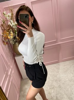 Ruched top white