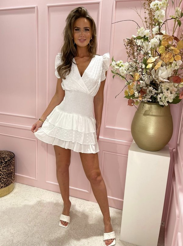 Claire dress white