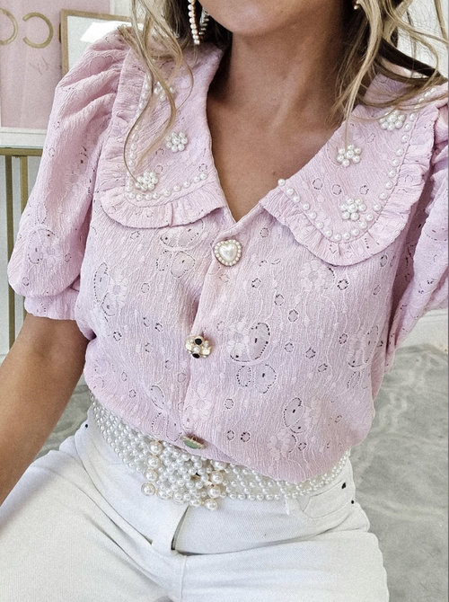 Pinkie pearl blouse