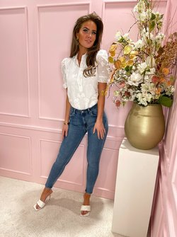 White Canne Blouse